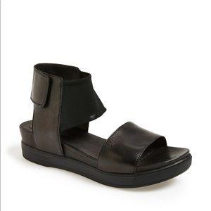 Eileen Fisher Spree Sport Black Leather Sandals
